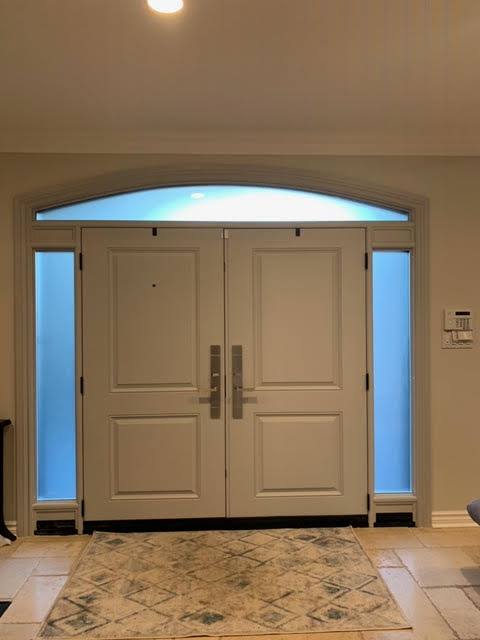 smooth fiberglass doors