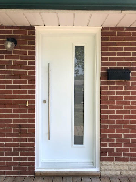 steel-door-installation-replacement-toronto-offset-window-white
