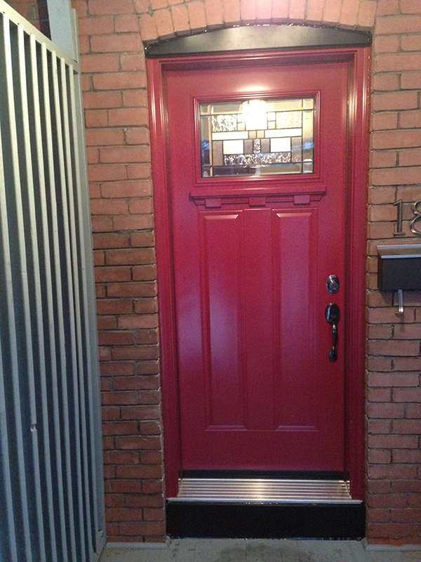 steel-door-installation-replacement-toronto-red-kickplate