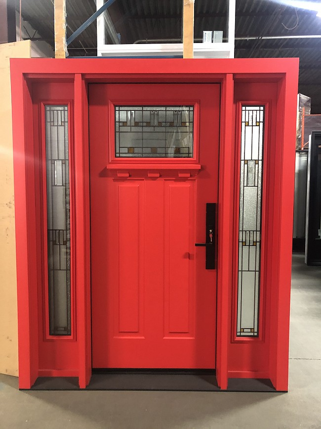 steel-door-installation-replacement-toronto-bold-red