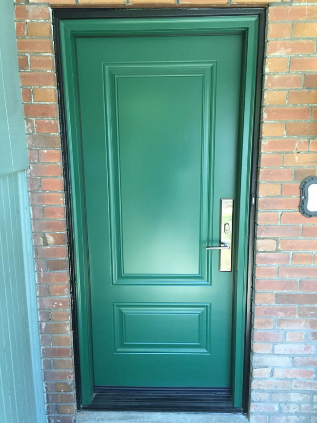 steel-door-installation-replacement-toronto-rusted-green-copper