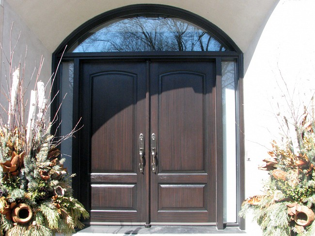 stained fiberglass doors