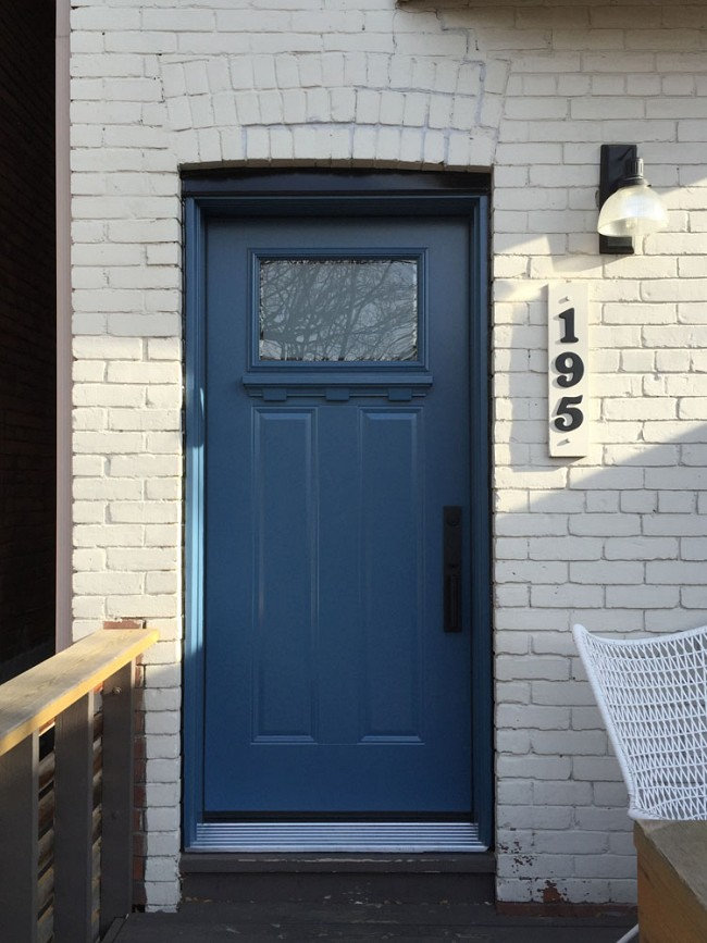 steel-door-installation-replacement-toronto-navy-blue