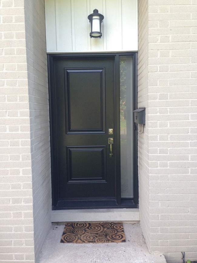 steel-door-installation-replacement-toronto-solid-black