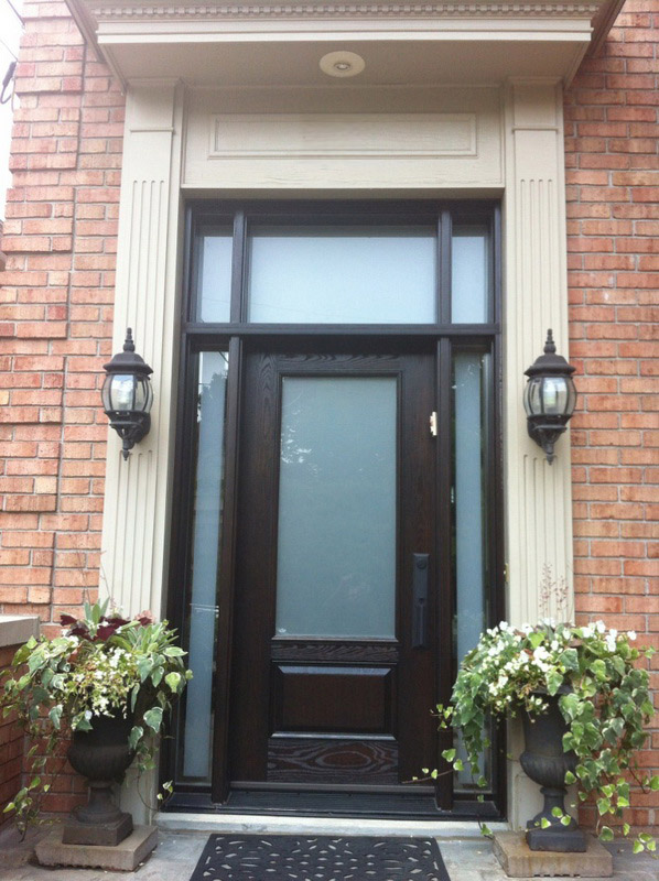 fiberglass-doors-installation-toronto-tall-glass-top