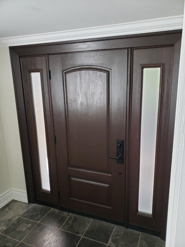 fiberglass wood look doors