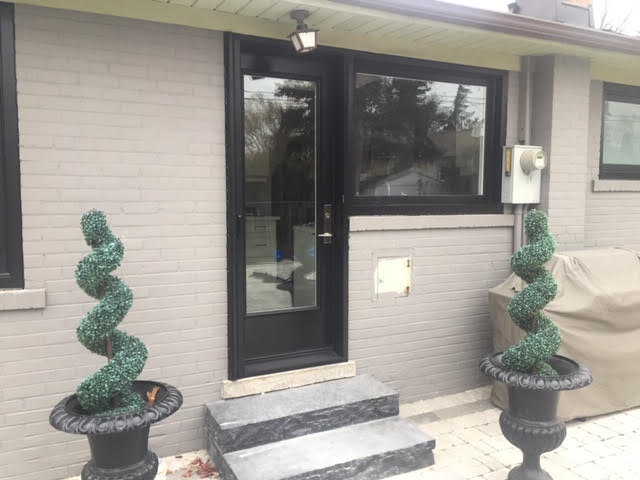 steel-door-installation-replacement-toronto-custom-black-courtyard