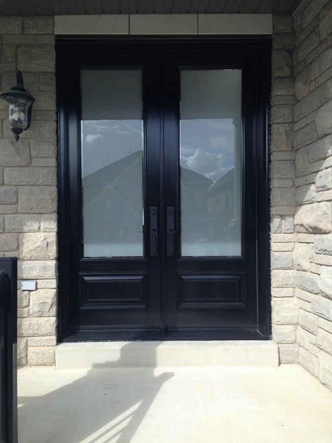 steel-door-installation-replacement-toronto-black-and-white