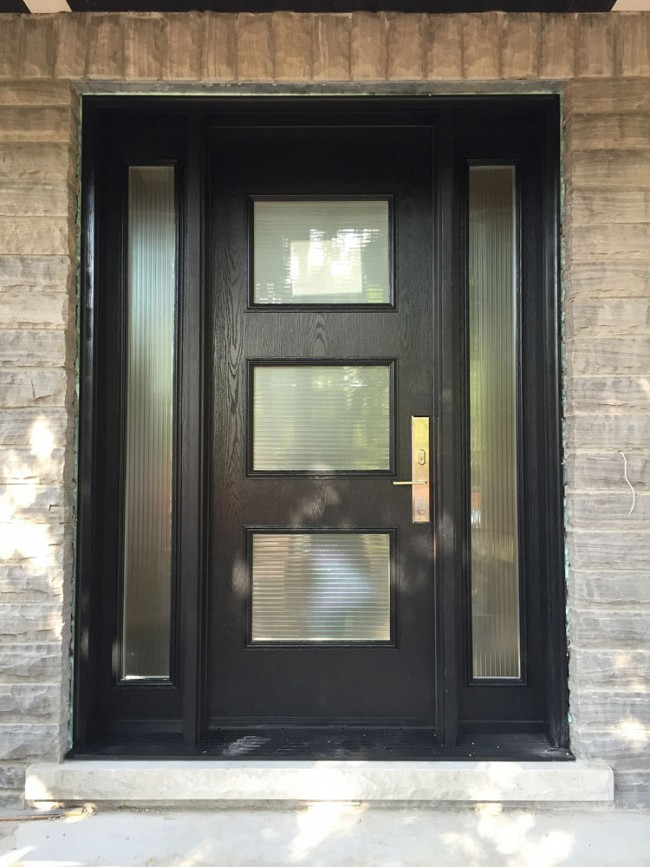 oak grain fiberlass doors toronto