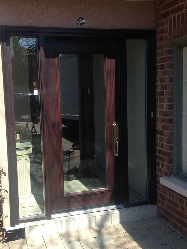 fiberglass-doors-installation-toronto-clear-window