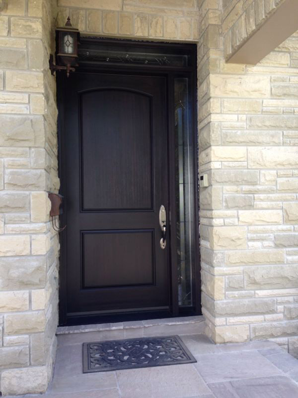 fiberglass-doors-installation-toronto-black-and-white-colour