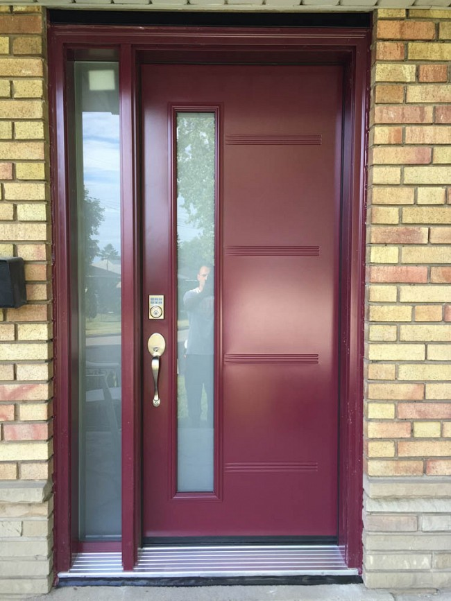 steel-door-installation-replacement-toronto-maroon
