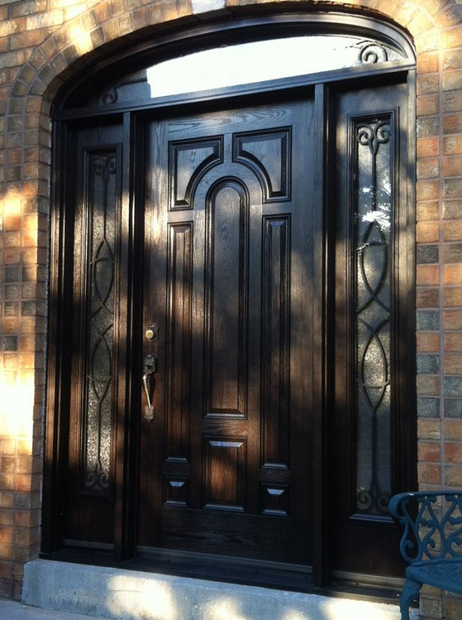 fiberglass-doors-installation-toronto-curved-window-arch