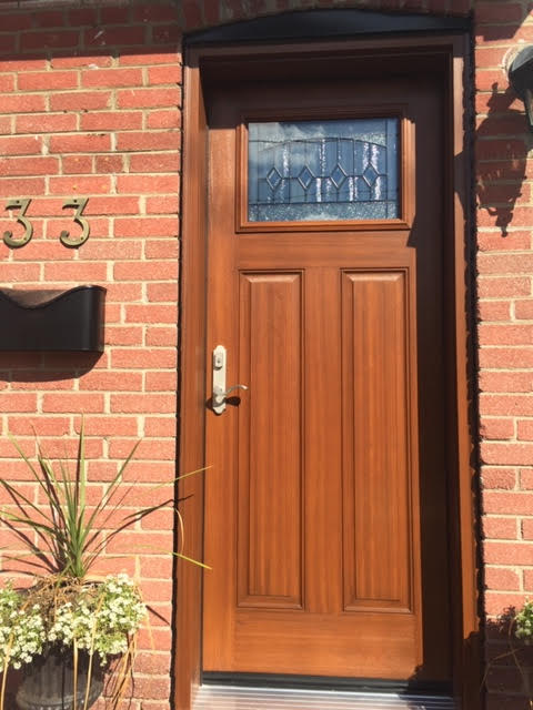 fiberglass-doors-installation-toronto-stained-wood-look