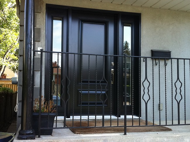 steel-door-installation-replacement-toronto-executive-with-railing