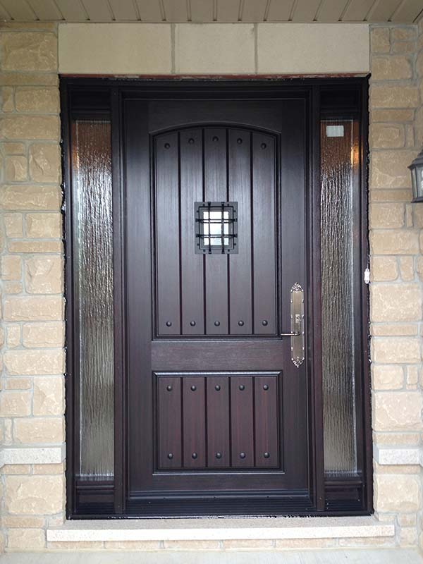 fiberglass-doors-installation-toronto-rich-wood