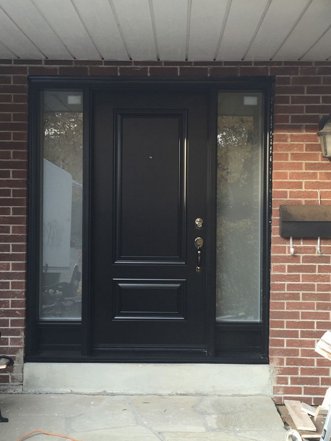 steel-door-installation-replacement-toronto-double-sidelight