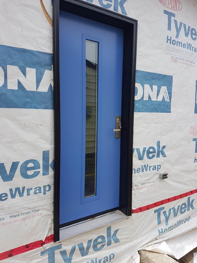 steel-door-installation-replacement-toronto-blue-newbuild