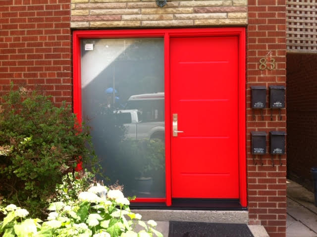 steel-door-installation-replacement-toronto-custom-red