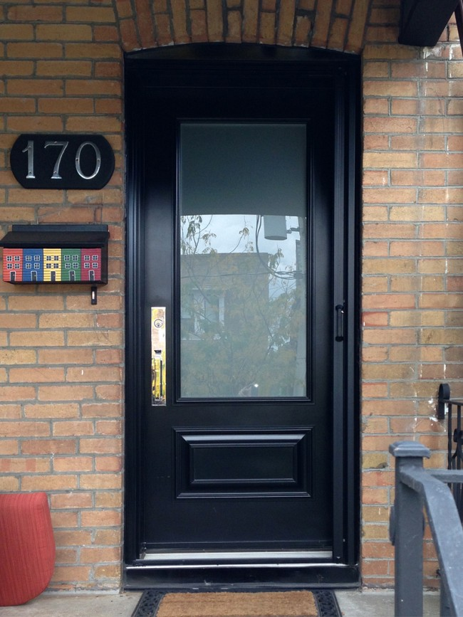 steel-door-installation-replacement-toronto-Steel Entrance door on a home in Toronto Canada