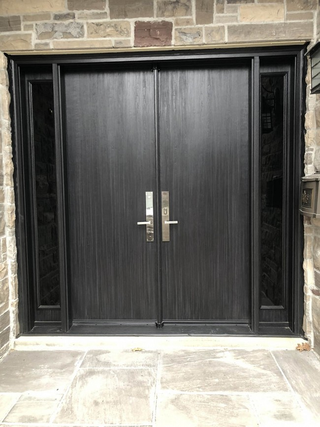 fiberglass-doors-installation-toronto-wide-black