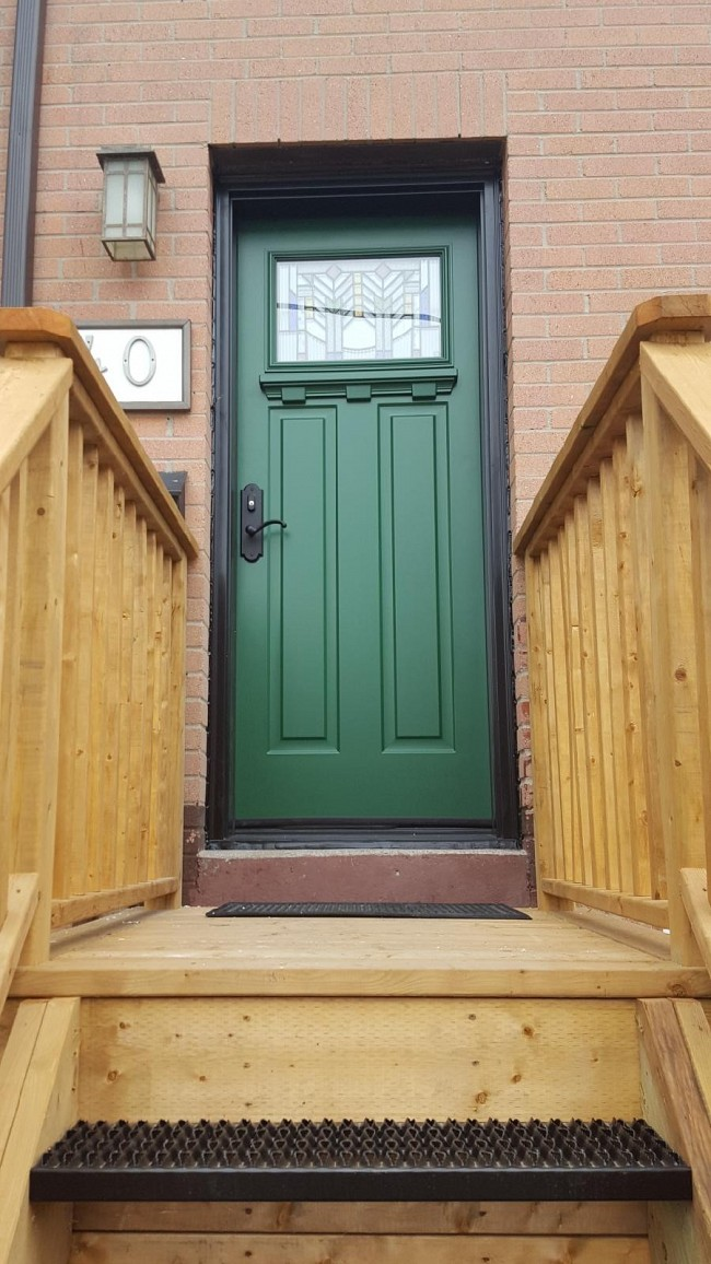 steel-door-installation-replacement-toronto-wood-railing