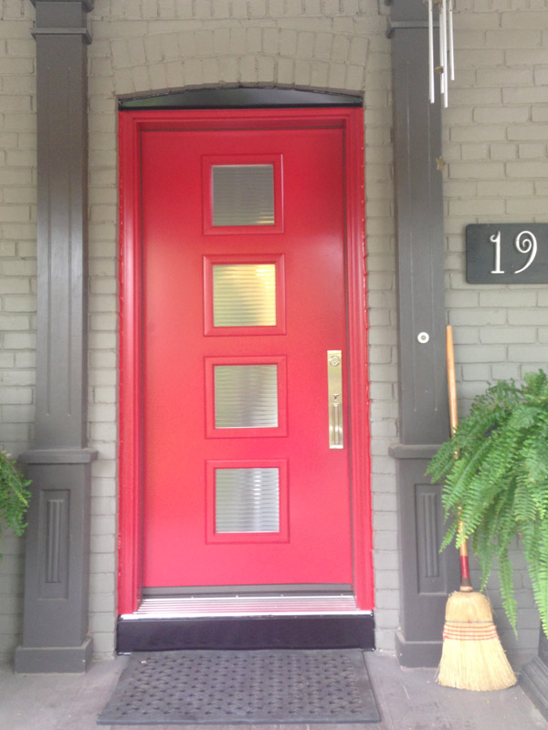 steel-door-installation-replacement-toronto-fun-red