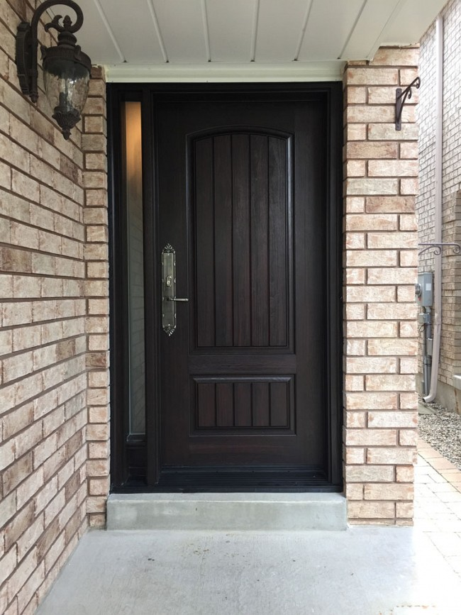 fiberglass-doors-installation-toronto-dark-walnut