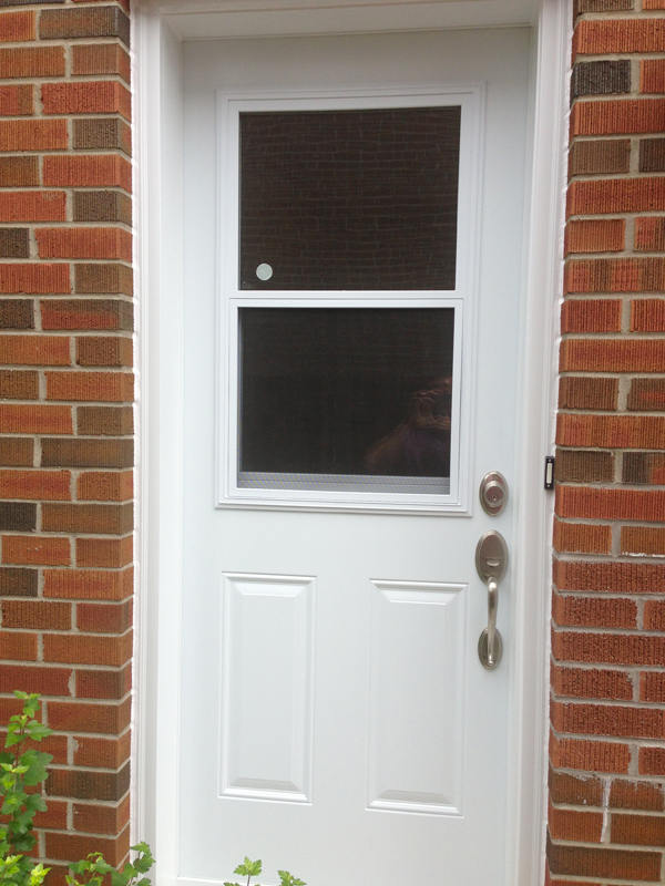steel-door-installation-replacement-toronto-white-half-vented